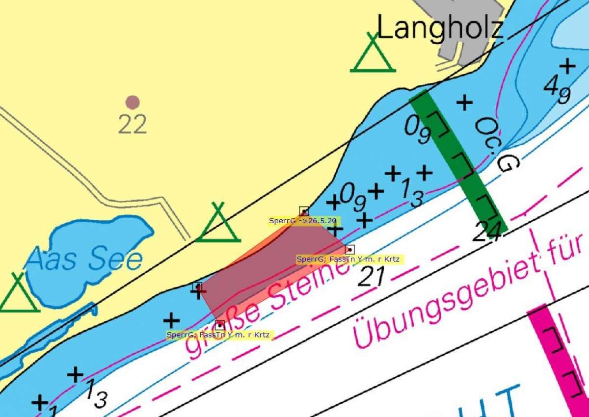 Eckernförder Bucht SperrGebiet - Navinfo bei Waabs