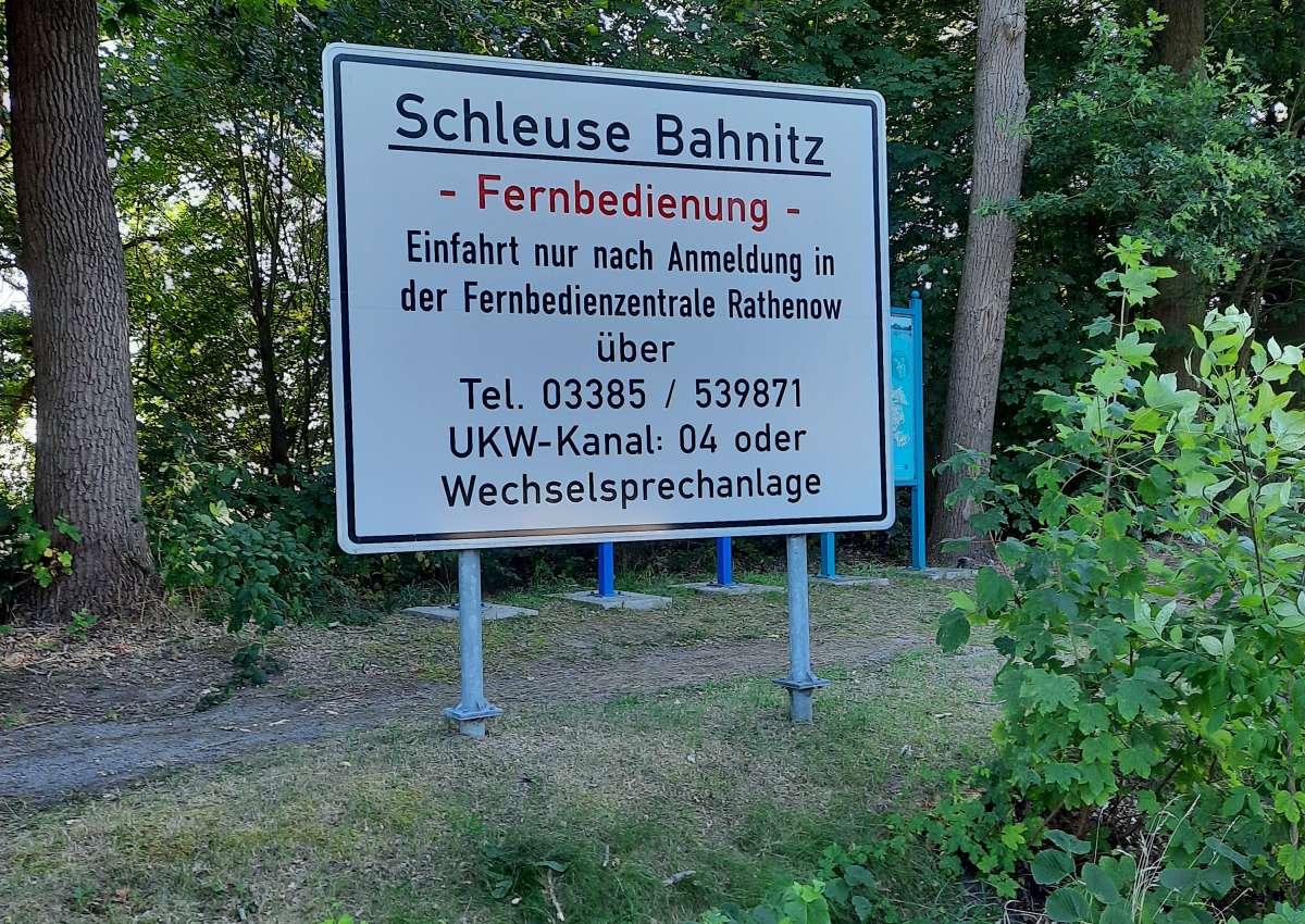 Schleuse Bahnitz - Navinfo bei Bahnitz