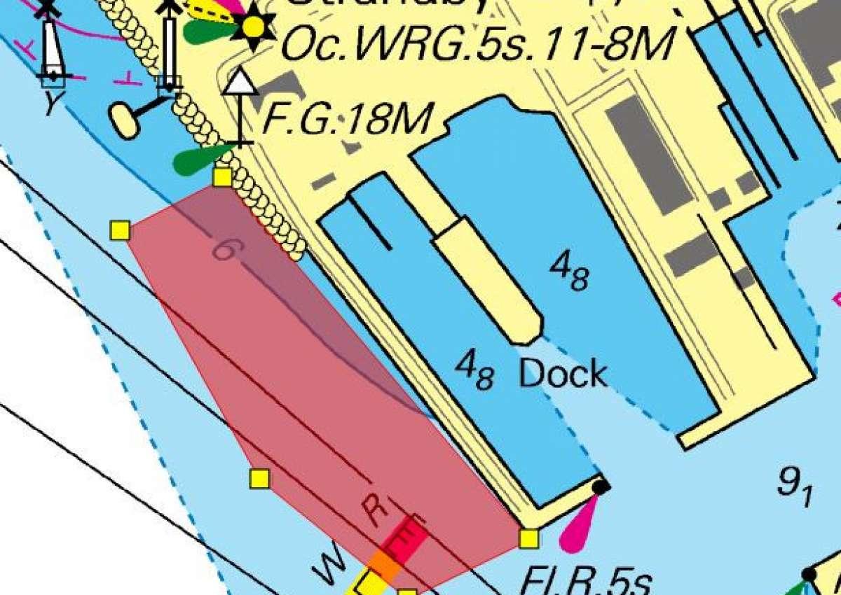 Esbjerg - Sperrgebiet eingerichtet - Navinfo bei Esbjerg (Strandby)