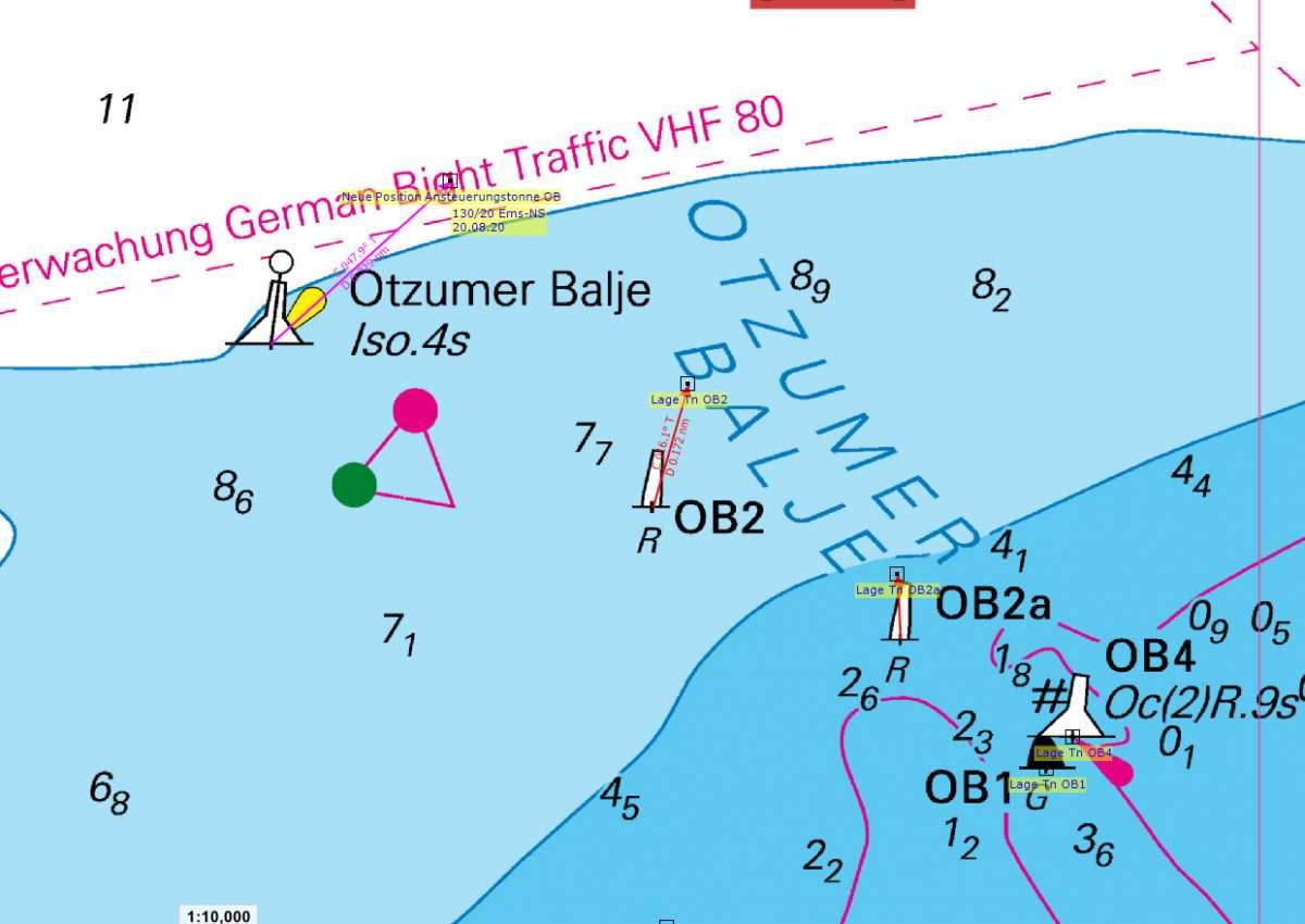 Otzumer Balje Ansteuerung nach Osten verlegt/ Otzumer Balje Approach moved to the East - Navinfo