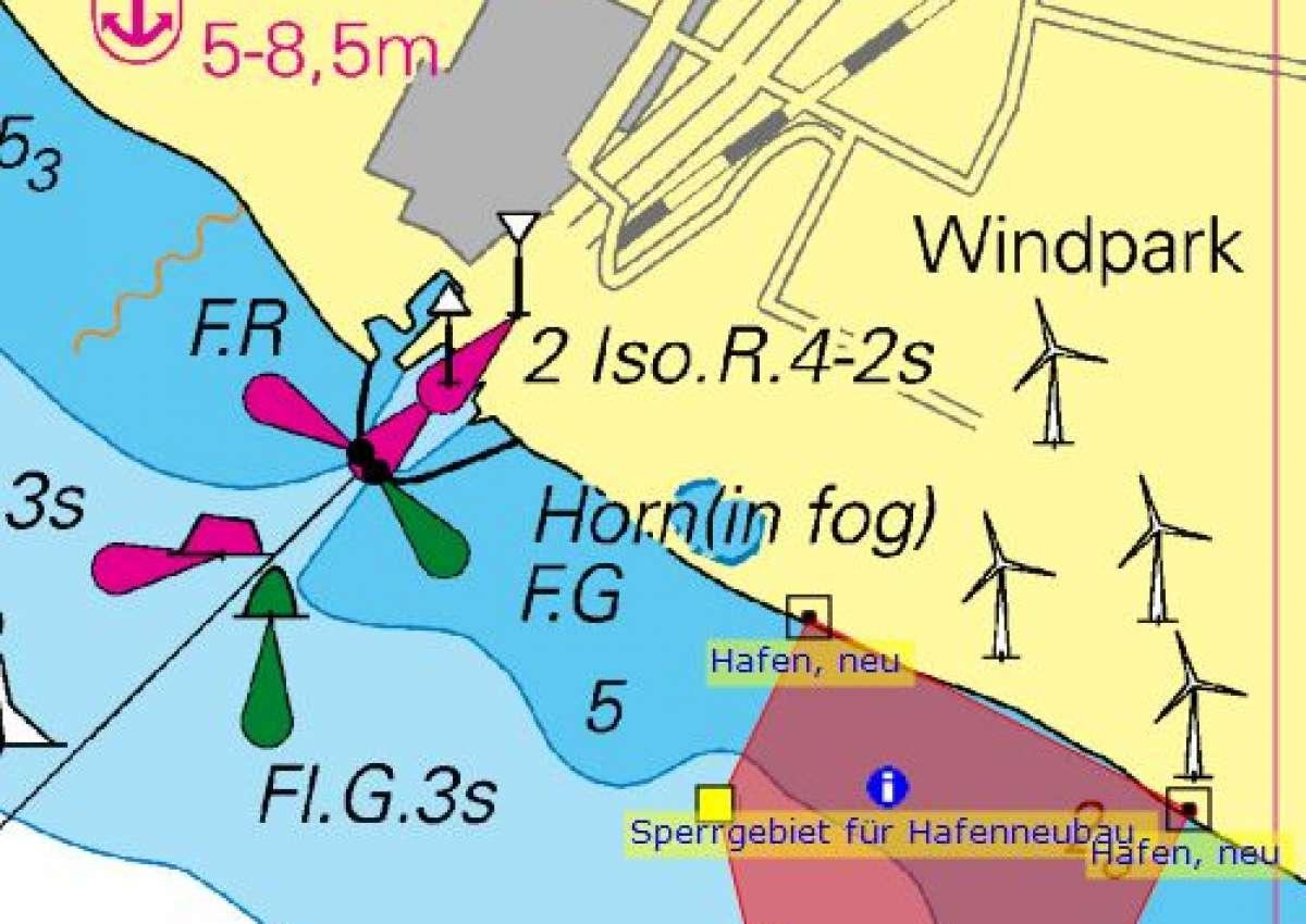 Rødby Havn SE - Sperrgebiet eingerichtet - Navinfo bei Rødby