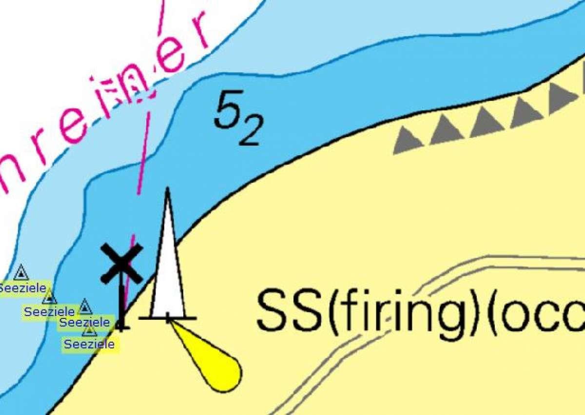 Howachter Bucht, Seeziele ausgebracht - Navinfo bei Gremersdorf