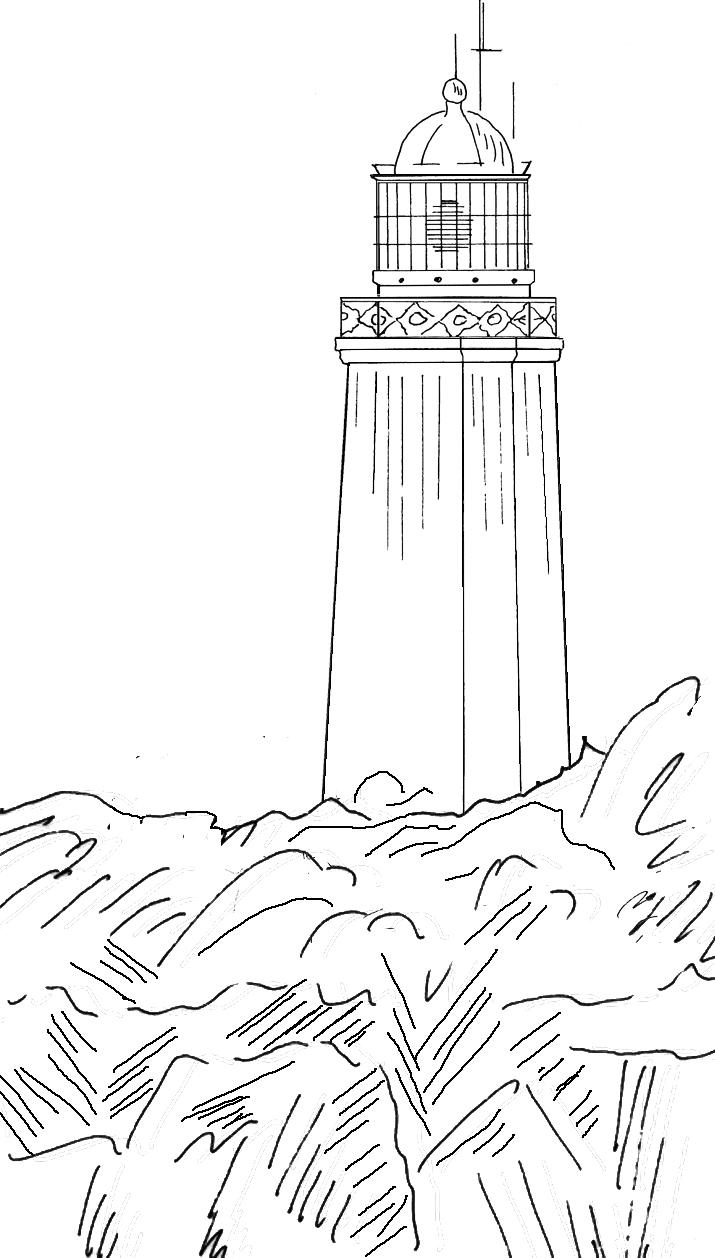 Dornbusch - Leuchtturm bei Insel Hiddensee