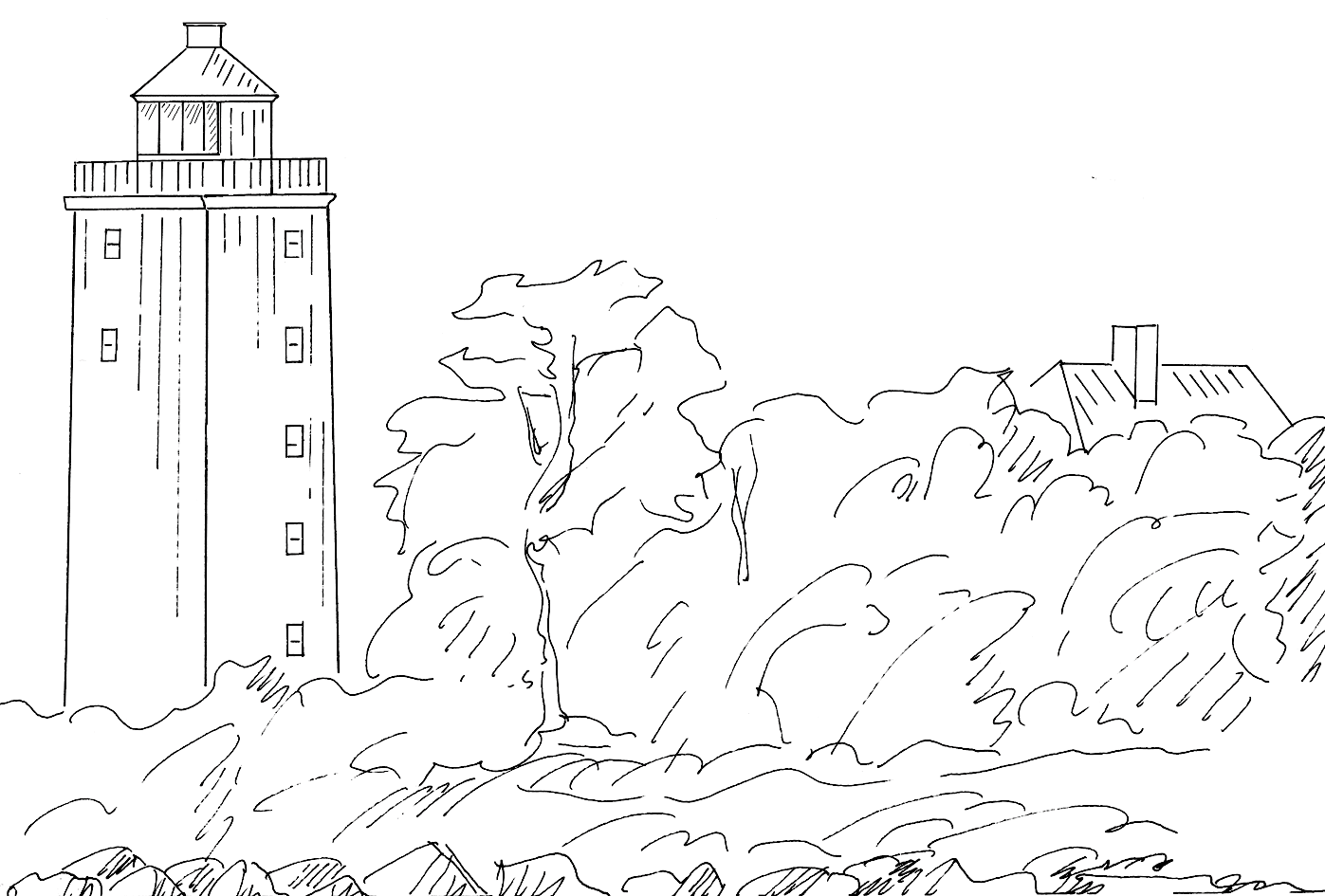 Svaneke - Lighthouse près de Svaneke